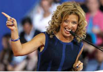 Debbie Wasserman Schultz's hair great smoothed curls Uncurly.com